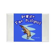 Beware The Platypus Rectangle Magnet