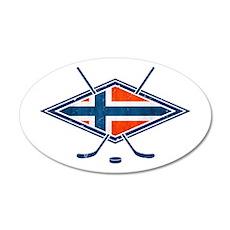 Norsk Ishockey Flag Wall Decal