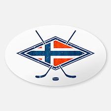 Norsk Ishockey Flag Decal