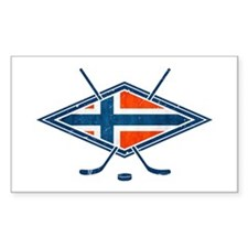 Norsk Ishockey Flag Decal