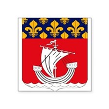 Paris Coat of Arms Rectangle Sticker