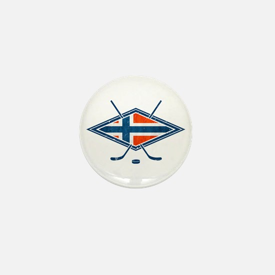 Norsk Ishockey Flag Mini Button