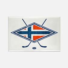 Norsk Ishockey Flag Rectangle Magnet