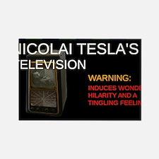 Nicolai Tesla's television Rectangle Magnet