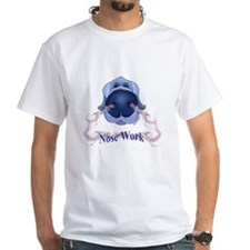Mens Light Grey Nose Work Tee T-Shirt