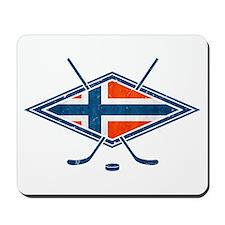 Norsk Ishockey Flag Mousepad