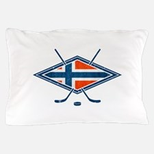 Norsk Ishockey Flag Pillow Case