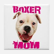 Boxer Mom dog Tile Coaster