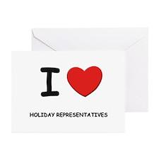 I love holiday representatives Greeting Cards (Pac