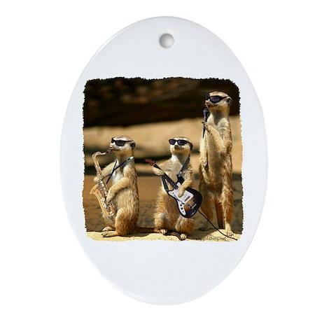 Meerkat Trio Oval Ornament