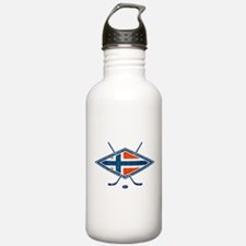 Norsk Ishockey Flag Water Bottle