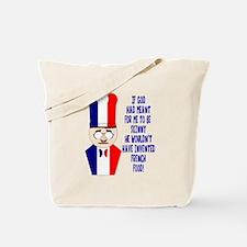 Dark Blue French Chef Tote Bag
