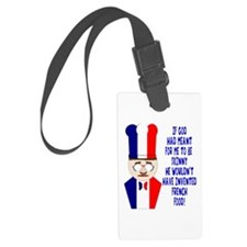 Dark Blue French Chef Luggage Tag