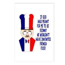 Dark Blue French Chef Postcards (Package of 8)