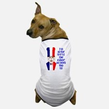 Dark Blue French Chef Dog T-Shirt
