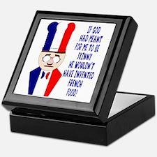 Dark Blue French Chef Keepsake Box