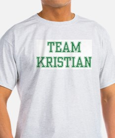 TEAM KRISTIAN  Ash Grey T-Shirt