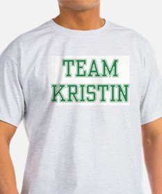 TEAM KRISTIN  Ash Grey T-Shirt