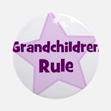Grandchildren Rule Ornament (Round)