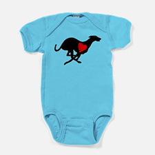 Greyhound Baby Bodysuit Hearthound