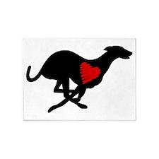 Greyhound 5'x7'Area Rug Hearthound