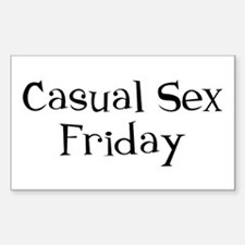 Casual Sex Friday Decal