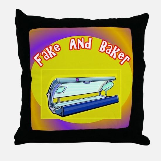 Fake and Bake Tanning Throw Pillow