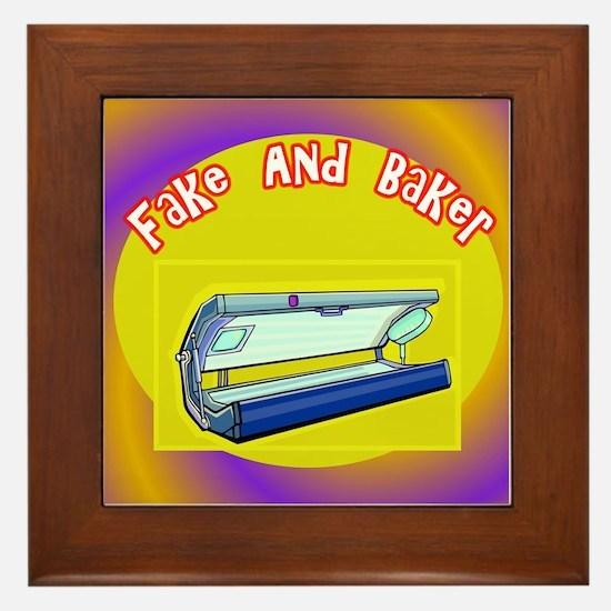 Fake and Bake Tanning Framed Tile