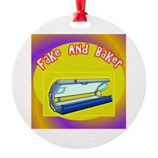 Fake and Bake Tanning Ornament