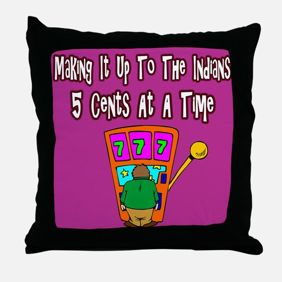 Making It Up To The Indians Throw Pillow