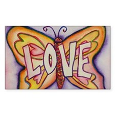 Love Word Pink Butterfly Decal