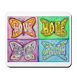 Faith hope love Mouse Pads