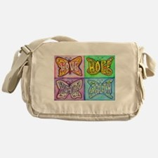 Inspirational Butterfly Word Wings Messenger Bag