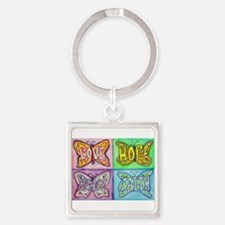 Inspirational Butterfly Word Wings Keychains