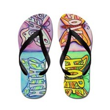 Inspirational Butterfly Word Wings Flip Flops