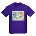 Community Hearts Color Kids Dark T-Shirt