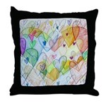 Community Hearts Color Throw Pillow