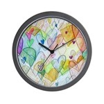 Community Hearts Color Wall Clock