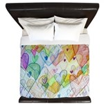 Community Hearts Color King Duvet
