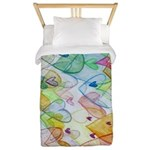 Community Hearts Color Twin Duvet
