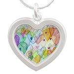 Community Hearts Color Silver Heart Necklace