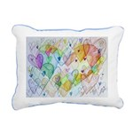 Community Hearts Color Rectangular Canvas Pillow