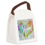 Community Hearts Color Canvas Lunch Bag