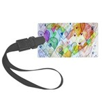 Community Hearts Color Large Luggage Tag