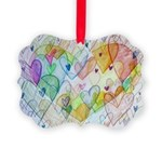 Community Hearts Color Picture Ornament