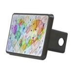 Community Hearts Color Rectangular Hitch Cover