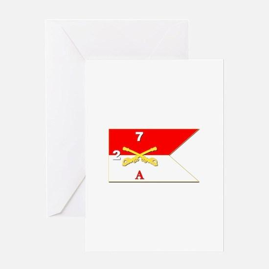 Guidon - A-2/7CAV Greeting Card