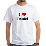 I Love Daniel White T-Shirt