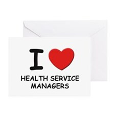 I love health service managers Greeting Cards (Pac