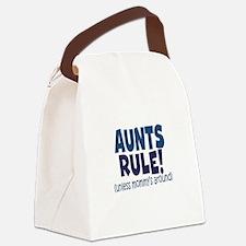 Aunts Rule Canvas Lunch Bag